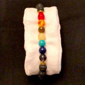 Lava Stone 7 Stone Bracelet